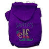 Doggy Stylz Dog-products New! Purple / Small Santa's Elf Rhinestone Dog Hoodie