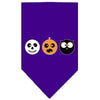 Doggy Stylz Dog-products New! Purple / Small The Spook Trio Screen Print Bandana