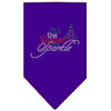 Doggy Stylz Dog-products New! Purple / Small Tis The Season To Sparkle Rhinestone Bandana
