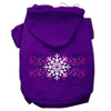Doggy Stylz Dog-products Pet Apparel Purple / Small Pink Snowflake Swirls Screenprint Pet Hoodies Size