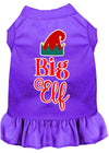 Doggy Stylz Dog-products New Purple / XXL Big Elf Screen Print Dog Dress