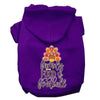 Doggy Stylz Dog-products New Purple / XXL Family, Food, And Football Screen Print Dog Hoodie