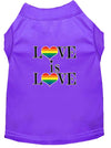 Doggy Stylz Dog-products New Purple / XXL Love Is Love Screen Print Dog Shirt