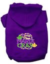 Doggy Stylz Dog-products New Purple / XXL Miss Mardi Gras Screen Print Mardi Gras Dog Hoodie