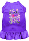 Doggy Stylz Dog-products New Purple / XXXL All About The Xoxo Screen Print Dog Dress