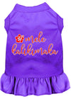 Doggy Stylz Dog-products New Purple / XXXL Mele Kalikimaka Screen Print Dog Dress