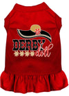Doggy Stylz Dog-products New Red / 4X Derby Doll Screen Print Dog Dress