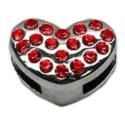 "Doggy Stylz Dog-products New Pet Products Red 3/8"" Slider Puffy Heart Charm"
