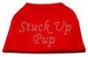 Doggy Stylz Dog-products Dog Shirts Red / EXTRA LARGE Stuck Up Pup Rhinestone Shirts Red