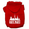 Doggy Stylz Dog-products Pet Apparel Red / Extra Large Tokyo Skyline Screen Print Pet Hoodies Size