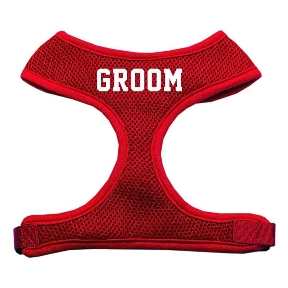 Doggy Stylz Dog-products Pet Harnesses Red / Extra Large Groom Screen Print Soft Mesh Harness