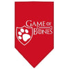Doggy Stylz Dog-products General Red / Large Game Of Bones Screen Print Bandana