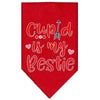 Doggy Stylz Dog-products New Red / Large Cupid Is My Bestie Screen Print Bandana