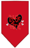 Doggy Stylz Dog-products New Red / Large Little Flirt Screen Print Bandana