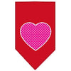 Doggy Stylz Dog-products New Pet Products Red / Large Pink Swiss Dot Heart Screen Print Bandana