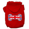 Doggy Stylz Dog-products Pet Apparel Red / Large Bone Shaped United Kingdom (union Jack) Flag Screen Print Pet Hoodies
