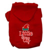 Doggy Stylz Dog-products New Red / Medium Little Elf Screen Print Dog Hoodie
