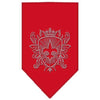 Doggy Stylz Dog-products Dog Bandanas Red / Small Fleur De Lis Shield Rhinestone Bandana