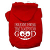 Doggy Stylz Dog-products New Pet Products Red / Small Up To No Good Screen Print Pet Hoodies Size