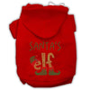Doggy Stylz Dog-products New! Red / Small Santa's Elf Rhinestone Dog Hoodie