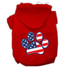 Doggy Stylz Dog-products Pet Apparel Red / Small Patriotic Paw Screen Print Pet Hoodies