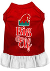Doggy Stylz Dog-products New Red With White / Large Big Elf Screen Print Dog Dress