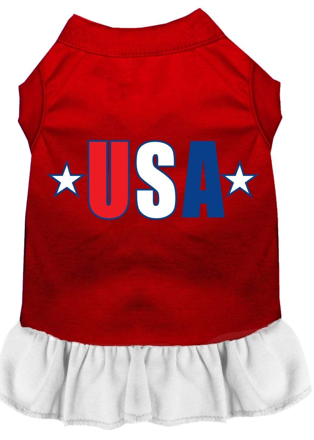 Doggy Stylz Dog-products Apparel Red With White / XXL Usa Star Screen Print Dress Baby Blue