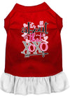 Doggy Stylz Dog-products New Red With White / XXL All About The Xoxo Screen Print Dog Dress