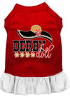 Doggy Stylz Dog-products New Red With White / XXL Derby Doll Screen Print Dog Dress