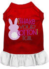Doggy Stylz Dog-products New Red With White / XXL Shake Your Cotton Tail Screen Print Dog Dress