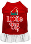 Doggy Stylz Dog-products New Red With White / XXXL Little Elf Screen Print Dog Dress