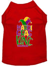 Doggy Stylz Dog-products New Red / XXL Mardi Gras King Screen Print Mardi Gras Dog Shirt