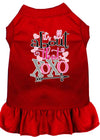 Doggy Stylz Dog-products New Red / XXXL All About The Xoxo Screen Print Dog Dress