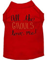 Doggy Stylz Dog-products New! Red / XXXL All The Ghouls Screen Print Dog Shirt