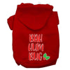 Doggy Stylz Dog-products New Red / XXXL Bah Humbug Screen Print Dog Hoodie