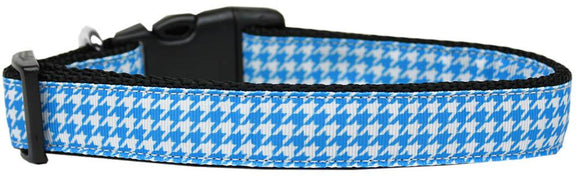 Doggy Stylz Dog-products Collars Small Blue Houndstooth Nylon Dog Collar