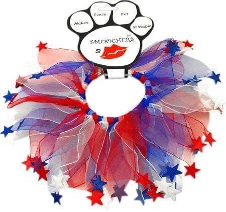 Doggy Stylz Dog-products PATRIOTIC PRODUCTS Small Red, White And Blue Star Smoochers Rwb