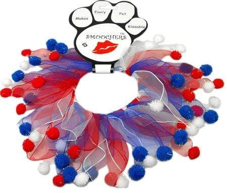 Doggy Stylz Dog-products Smoochers Small Red, White And Blue Fuzzy Smoochers Rwb