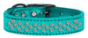 Doggy Stylz Dog-products New! Turquoise / 18 Sprinkles Ab Crystal Metallic Leather