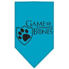 Doggy Stylz Dog-products General Turquoise / Large Game Of Bones Screen Print Bandana