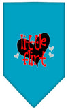 Doggy Stylz Dog-products New Turquoise / Large Little Flirt Screen Print Bandana