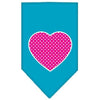 Doggy Stylz Dog-products New Pet Products Turquoise / Large Pink Swiss Dot Heart Screen Print Bandana