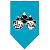Doggy Stylz Dog-products New! Turquoise / Large Stay Wild Screen Print Bandana