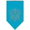 Doggy Stylz Dog-products Dog Bandanas Turquoise / Small Fleur De Lis Shield Rhinestone Bandana