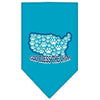 Doggy Stylz Dog-products Dog Bandanas Turquoise / Small God Bless Usa Screen Print Bandana