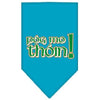 Doggy Stylz Dog-products Dog Bandanas Turquoise / Small Pog Mo Thoin Screen Print Bandana