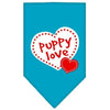 Doggy Stylz Dog-products Dog Bandanas Turquoise / Small Puppy Love Screen Print Bandana