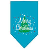Doggy Stylz Dog-products Dog Bandanas Turquoise / Small Scribble Merry Christmas Screen Print Bandana
