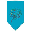 Doggy Stylz Dog-products Holiday Pet Products Turquoise / Small Wreath Rhinestone Bandana
