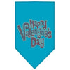 Doggy Stylz Dog-products New Pet Products Turquoise / Small Happy Valentines Day Rhinestone Bandana